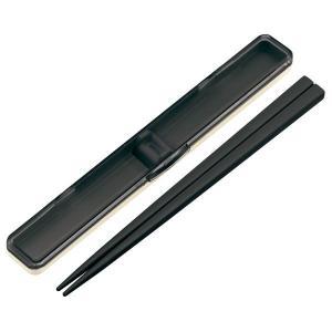 お箸 音の鳴らない箸箱セット レトロフレンチ 箸長21cm 収納ケース付き 日本製|kanaemina