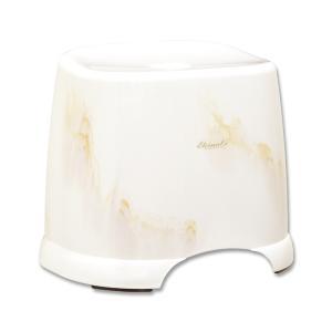 お風呂の椅子 風呂イス 風呂いす カビ防止加工 おしゃれ 大理石調 ブラウン 高さ約32cm 日本製|kanaemina