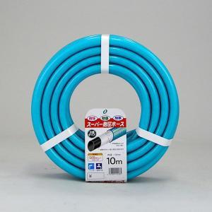 散水ホース スーパー耐圧ホース 10m 中黒 ブルー 食品衛生法適合商品 日本製|kanaemina
