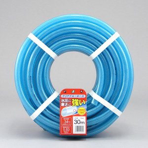 散水ホース 耐圧ホース 30m クリアブルー 耐寒 食品衛生法適合商品 日本製|kanaemina