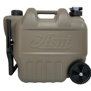 ウォータータンク  水用ポリタンク コック付き タイヤ付き 20L ミリタリー キャンプ アウトドア|kanaemina