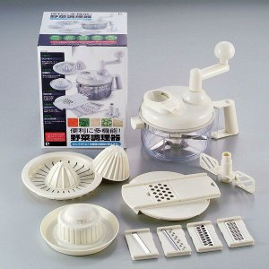 ■商品説明 下ごしらえに便利なキッチン調理器具 コンパクトに10種類の機能がこれ1台でできます。 千...