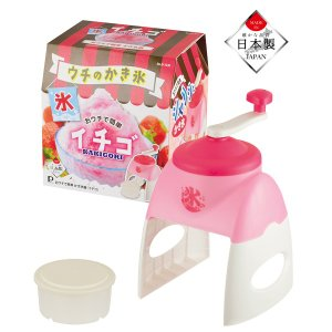 かき氷機 手動 バラ氷も削れる 家庭用かき氷器 日本製 イチゴ|kanaemina