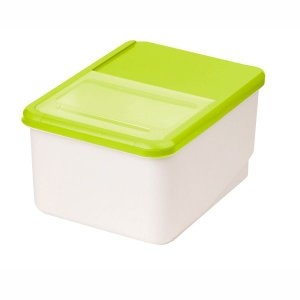 米びつ システムキッチン用 こめびつ 10kg グリーン 米櫃|kanaemina