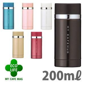 ステンレスマグボトル 水筒 直飲み 保温 保冷 軽量 小型 ミニ 200ml|kanaemina