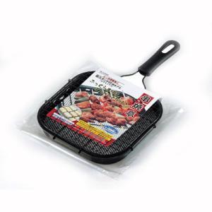 魚焼き器 魚焼きフライパン 焼き網 串焼きスタンド付の画像