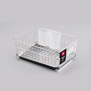 水切りラック 食器用水切りかご 水切りバスケット ミニ 幅22.5cm ステンレス製|kanaemina