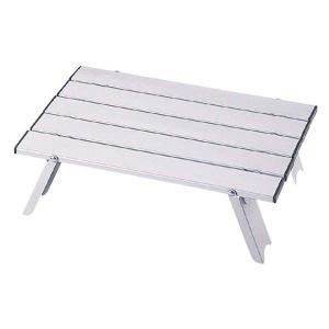 アルミテーブル 折りたたみ アウトドアローテーブル コンパクト|kanaemina