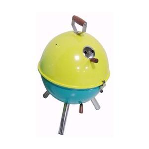 バーベキューコンロ バケットタイプ 蒸し焼き 燻製 スモーカー イエロー×グリーン|kanaemina