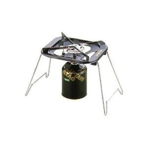 五徳ガスバーナーコンロ シングル 収納バッグ付き 圧電着火方式 キャプテンスタッグ|kanaemina