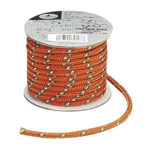 テント用ロープ アウトドア 径5mm×20m オレンジ キャプテンスタッグ|kanaemina