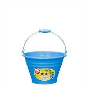 バケツ カラーバケツ 3L 青 ブルー|kanaemina
