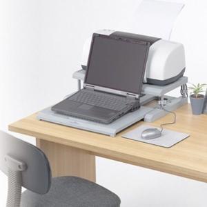 パソコンラック 13型 グレイ ノートパソコン用収納アイテム...