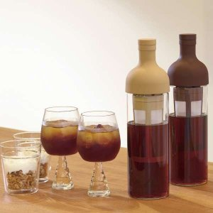 水出しコーヒーポット アイスコーヒー 器具 ポット フィルターインボトル 650ml ショコラ|kanaemina