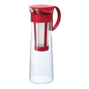 水出しコーヒーポット アイスコーヒー 器具 ポット 1000ml 1L レッド|kanaemina