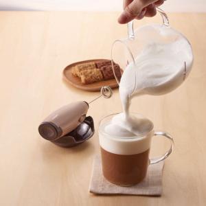 泡立て器 クリーマー ホイッパー ホイップクリーム ハリオ ふわふわミルク ガラス容器付き kanaemina