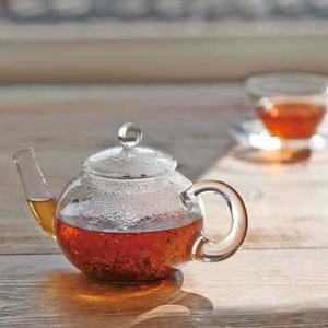 ジャンピングティーポット 耐熱ガラス製 紅茶ポット ハリオ ドナウ 500ml|kanaemina