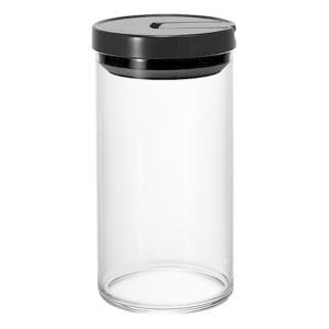 コーヒーキャニスター 珈琲豆 保存容器 ハリオ 耐熱ガラス製 Lサイズ ブラック|kanaemina