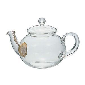 ジャンピングティーポット 耐熱ガラス製 茶漉し付き 紅茶ポット ハリオ 500ml|kanaemina