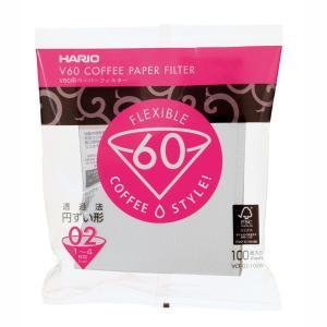 コーヒーペーパーフィルター ドリップ ろ紙 濾紙 ハリオ 02W V60用 酸素漂白 円すい形 円錐型 1〜4杯用 100枚入 kanaemina