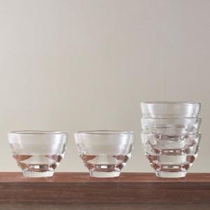 ガラスカップ スタッキング 耐熱ガラス製 5個セット オーブ...