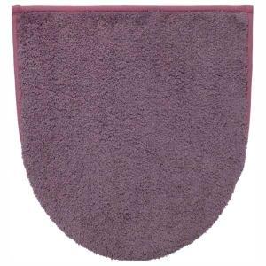 トイレの蓋カバー トイレカバー モダニスト ふわふわ 兼用フタカバー ワイン|kanaemina