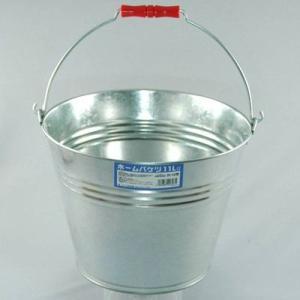 トタンバケツ 11L(ブリキ/バケツ/金属/丸型)|kanaemina