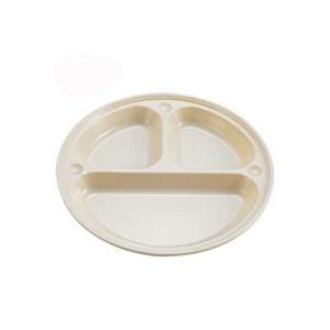 トリオプレート 食器皿 仕切り付き プラスチック アウトドア 耐熱120度 抗菌 21cm|kanaemina