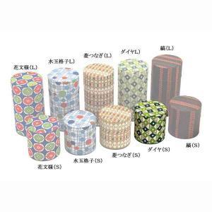 茶筒 お茶筒 茶葉 お茶の葉 保管容器 おしゃれ レトロ はいからさん ダイヤ ブリキ/和紙 S 100g 日本製|kanaemina