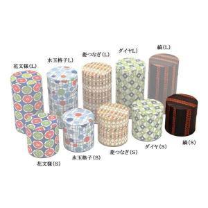 茶筒 お茶筒 茶葉 お茶の葉 保管容器 おしゃれ レトロ はいからさん 縞 ブリキ/和紙 S 100g 日本製|kanaemina