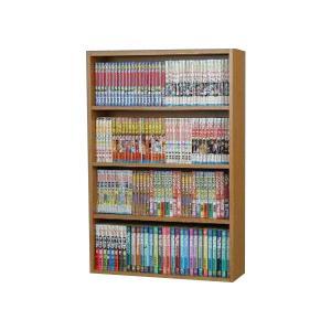 本棚 書棚 コミックラック 幅60cm 薄型 ブラウン|kanaemina