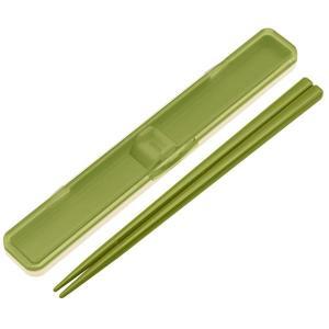 お箸 音の鳴らない箸箱セット レトロフレンチ 箸長18cm 収納ケース付き 日本製|kanaemina