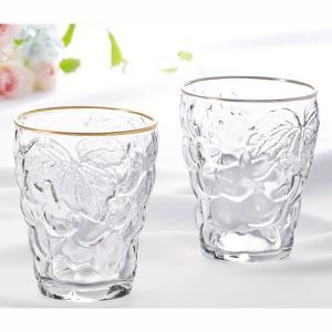 グラス コップ タンブラー ガラス アデリア 葡萄 ぶどうのグラス シンプル おしゃれ|kanaemina