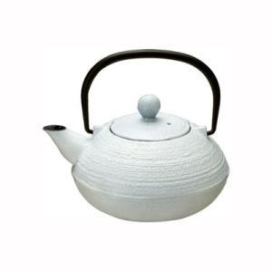 鉄瓶 急須 鉄びん やかん 茶器 直火 梨地/ミルク 0.5L|kanaemina