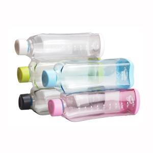 水筒 ウォーターボトル クリアー 1L 1000ml 飲料容器 目盛り付き スポーツドリンク 粉末 シェーカー|kanaemina