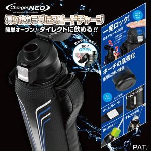 水筒 子供用 直飲み 1リットル 1.1L 保冷専用 ステンレス ダイレクトチャージャー カバーポーチ付き|kanaemina