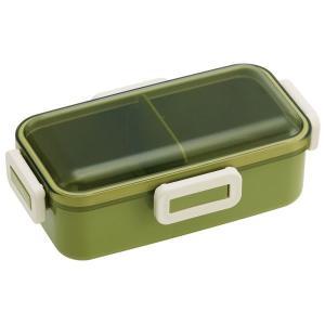 ランチボックス 1段お弁当箱 レトロフレンチ おしゃれ 密閉ロック 電子レンジ対応 仕切り付き 日本製|kanaemina