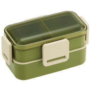 ランチボックス 2段お弁当箱 レトロフレンチ おしゃれ 密閉ロック 電子レンジ対応 入れ子式 日本製|kanaemina