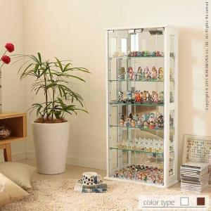 コレクションケース フィギュアケース 収納ラック 木製 強化ガラス 高さ100cm|kanaemina