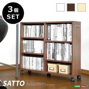 押入収納 整理棚 隙間収納家具 キャスター付き 3個セット kanaemina