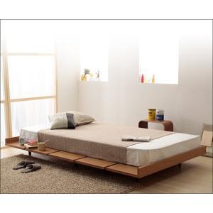 木製ベッドフレーム セミダブル ローベット 北欧調 120サイズ すのこ スノコベッド|kanaemina