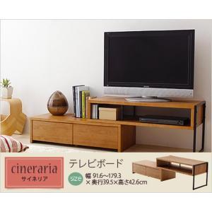 テレビ台 ローボード TV台 スライド伸縮式 アイアン/スチール|kanaemina