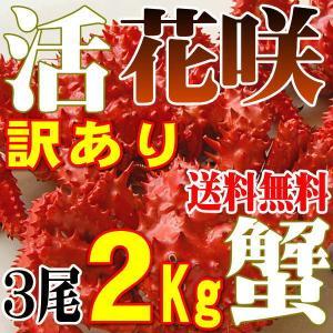 カニ かに 2kg 訳あり 花咲ガニ 5-8尾 活 未冷凍 ...