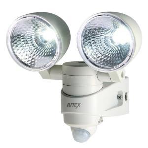 ムサシ 4Wx2 LED センサーライト LED-AC28 コンセント式LED 3mコード 点灯時間5秒〜5分 探知角度140° 防雨タイプ musashi kanajin