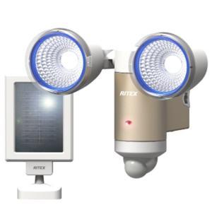 ムサシ 3Wx2灯 LEDソーラーセンサーライト S-65L ライテックス フラッシング機能15秒点滅 ソーラー式LED 480ルーメン 探知距離約6m musashi kanajin