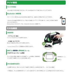 日立 コードレスラジオ付テレビ UR18DSML(NN) 本体+ACアダプタ付 デジタルテレビチューナー・BluetoothR機能搭載 14.4V対応 18V対 セット品バラシ HiKOKI|kanajin|03
