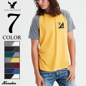 アメリカンイーグル Tシャツ 半袖 メンズ ラグラン グラフィック アメカジ AE Raglan S...