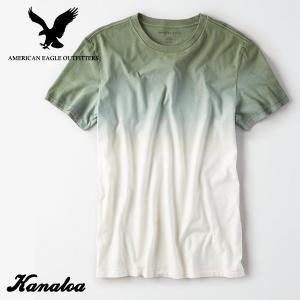 アメリカンイーグル メンズ Tシャツ 半袖 グラデーション AE Dip Dye T-Shirt ホ...
