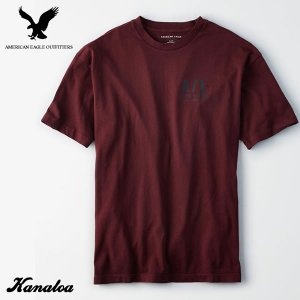 アメリカンイーグル メンズ Tシャツ 半袖 グラフィック アメカジ AE Drop-Shoulder...