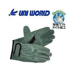 ユニワールド 皮製手袋 オイル牛床革手 マジック 131|kanamono1